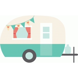 Camper clipart vintage camper. Silhouette design store view