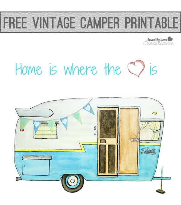Free printable art . Camper clipart vintage camper