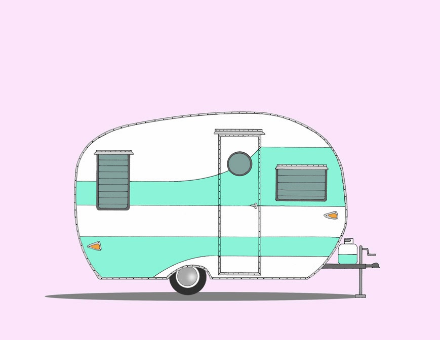 Free retro cliparts download. Camper clipart vintage camper