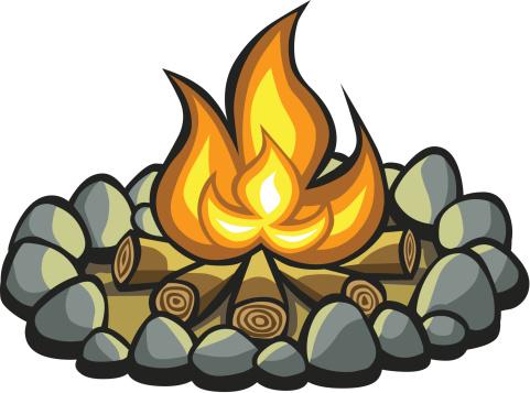 Camp fire clip art. Campfire clipart