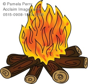 Clip art illustration of. Campfire clipart