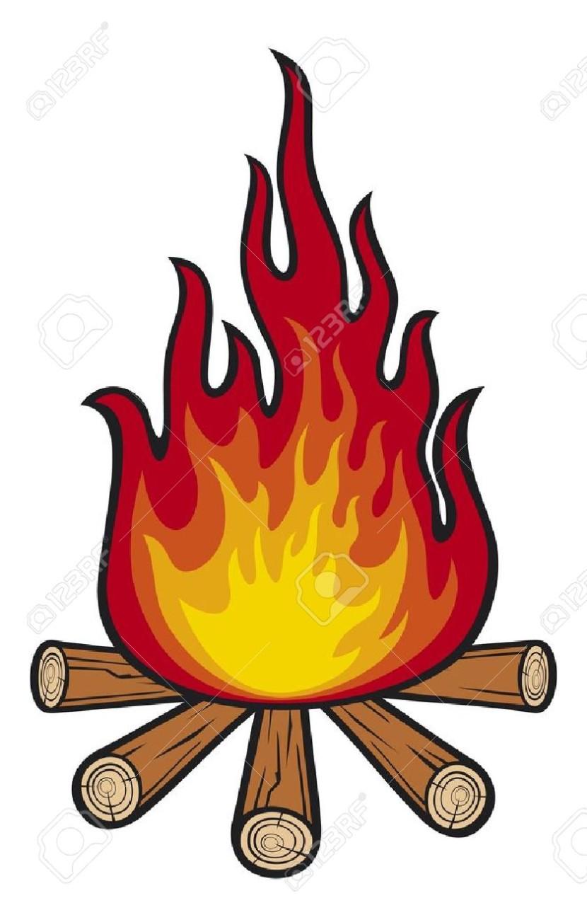 Cartoon clip art clipartix. Campfire clipart animated