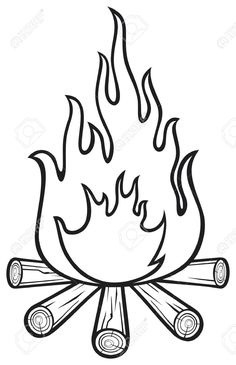 Inspirational of letter master. Campfire clipart black and white