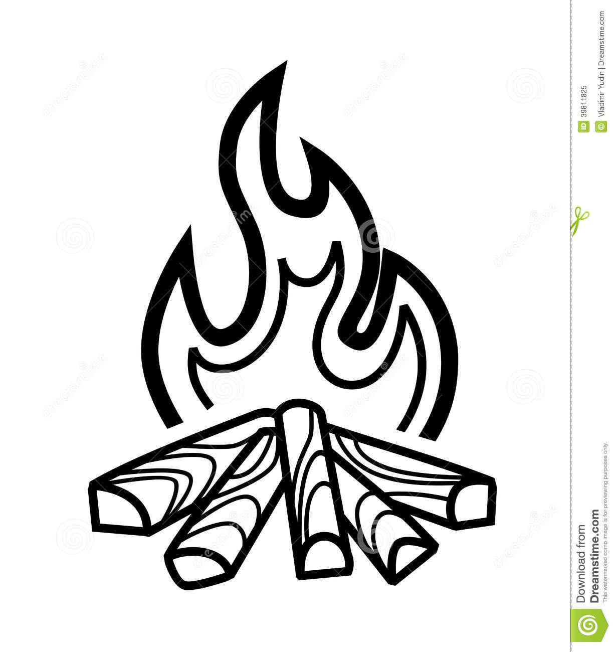 Campfire clipart black and white. Station