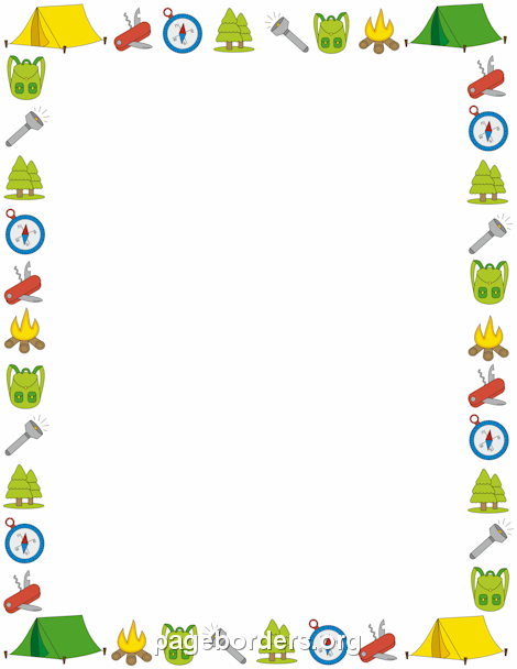Campfire clipart border. Use these camping tips