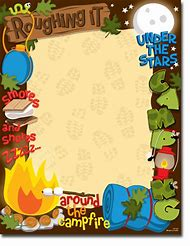 Best ideas about fun. Campfire clipart border
