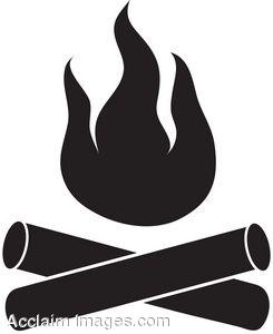 Campfire clipart camfire. Black and white panda