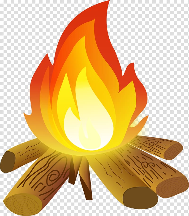 Campfire clipart campsite. Burning firewoods art camping