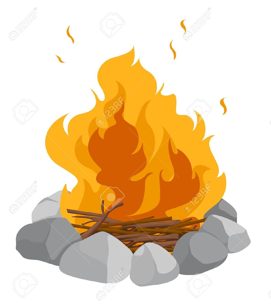 New gallery digital collection. Campfire clipart cartoon