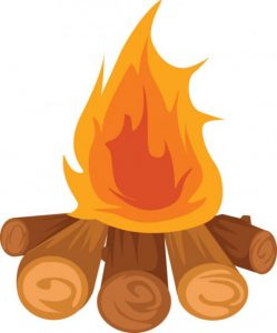Campfire clipart cartoon. Bonfire free panda images