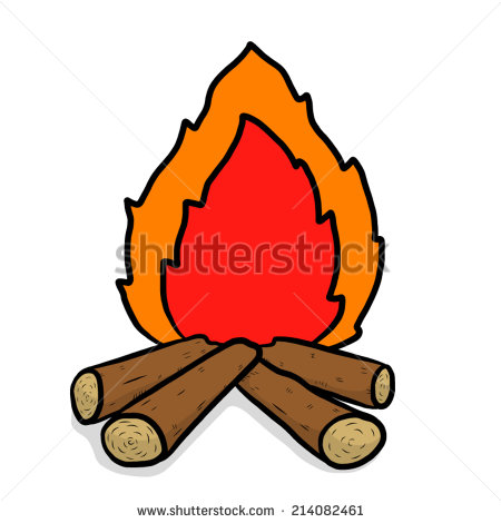 Wood fire pencil and. Campfire clipart cartoon