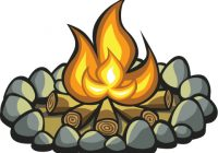 Beautiful clip art fire. Campfire clipart cartoon