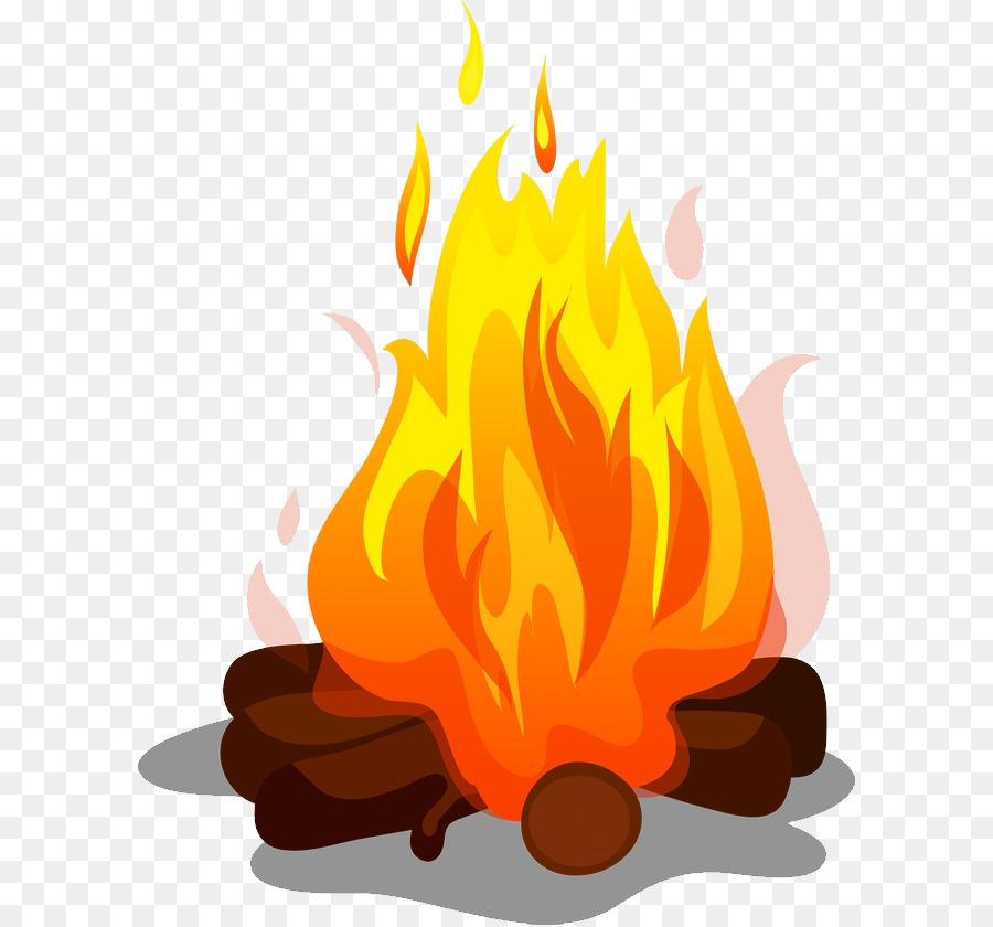 Smore bonfire . Campfire clipart cartoon