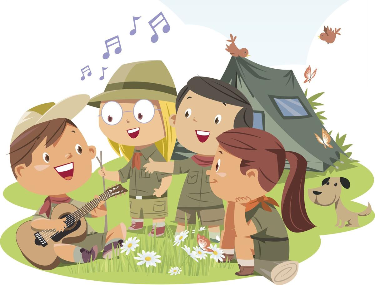 Campfire clipart children's. Happy camping enjoyable camp