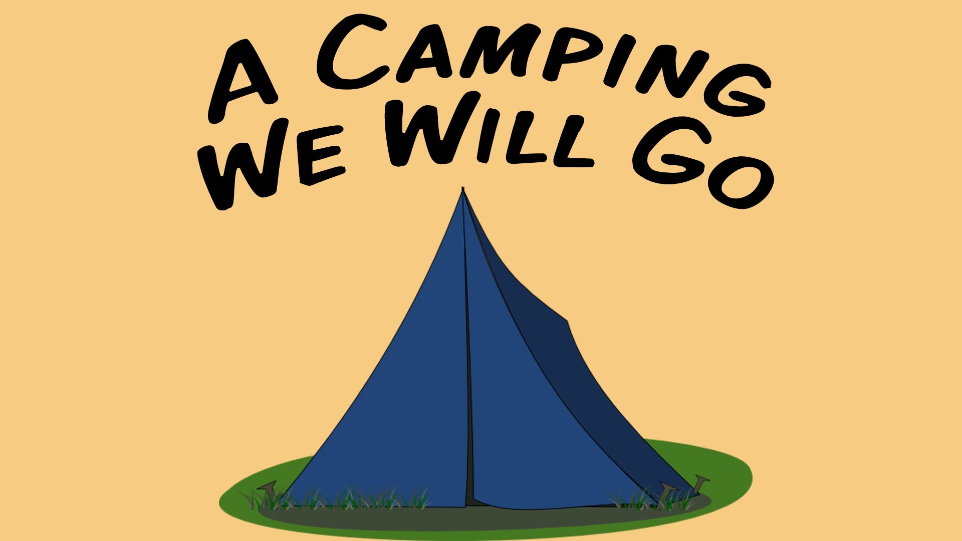 A camping we will. Campfire clipart children's