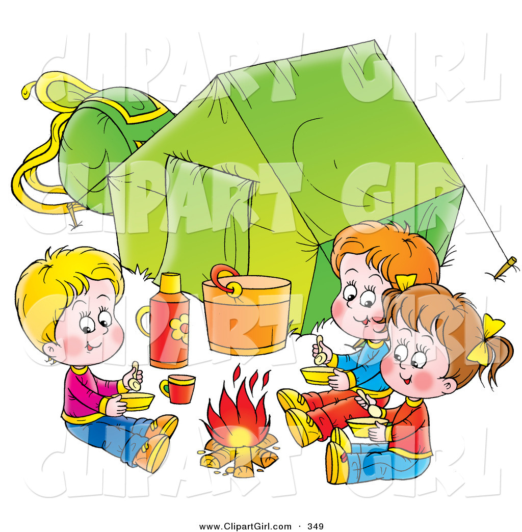 Royalty free camp fire. Campfire clipart children's