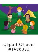 Illustration by bnp design. Campfire clipart children's