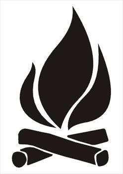 Black and white library. Campfire clipart clip art