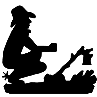 Campfire clipart cowboy. Silhouette at getdrawings com