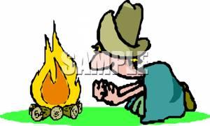Campfire clipart cowboy. Clip art image a
