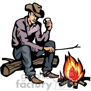 Campfire clipart cowboy.  best western images