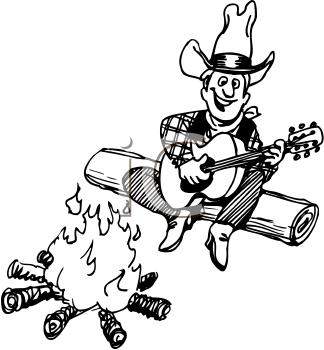 . Campfire clipart cowboy