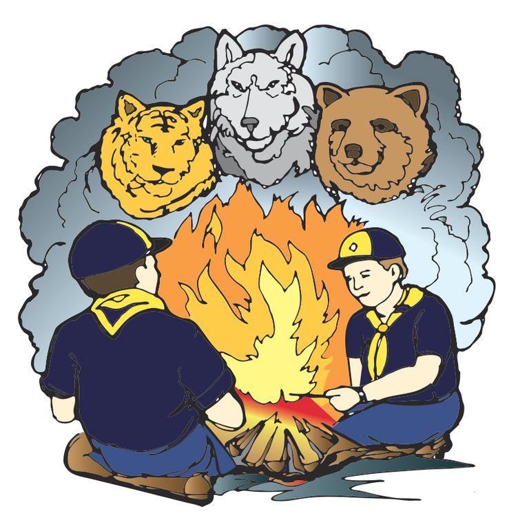 best clip art. Campfire clipart cub scout