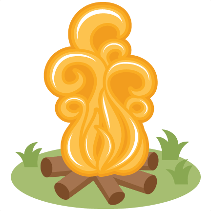 Svg scrapbook cut file. Campfire clipart cute