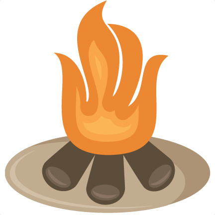 Campfire clipart cute. Svg cut file free