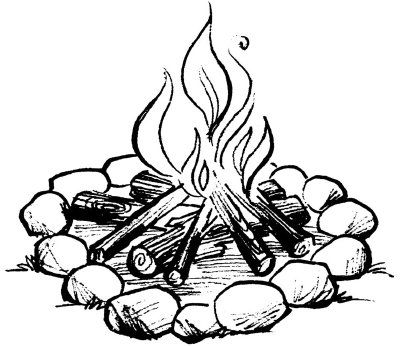 Camping activities for kids. Campfire clipart draw