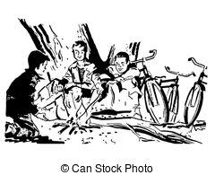 Camp fire drawing at. Campfire clipart draw