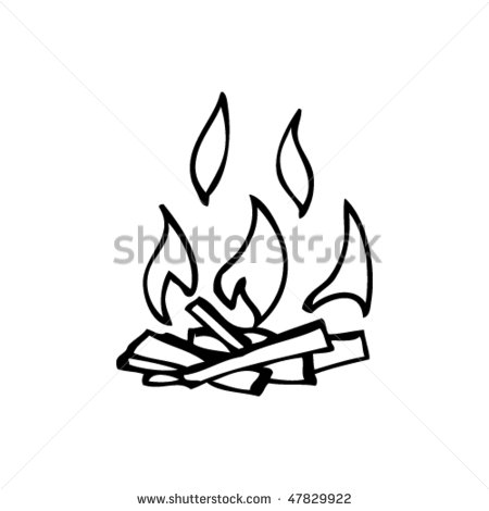 Free drawing download clip. Campfire clipart easy