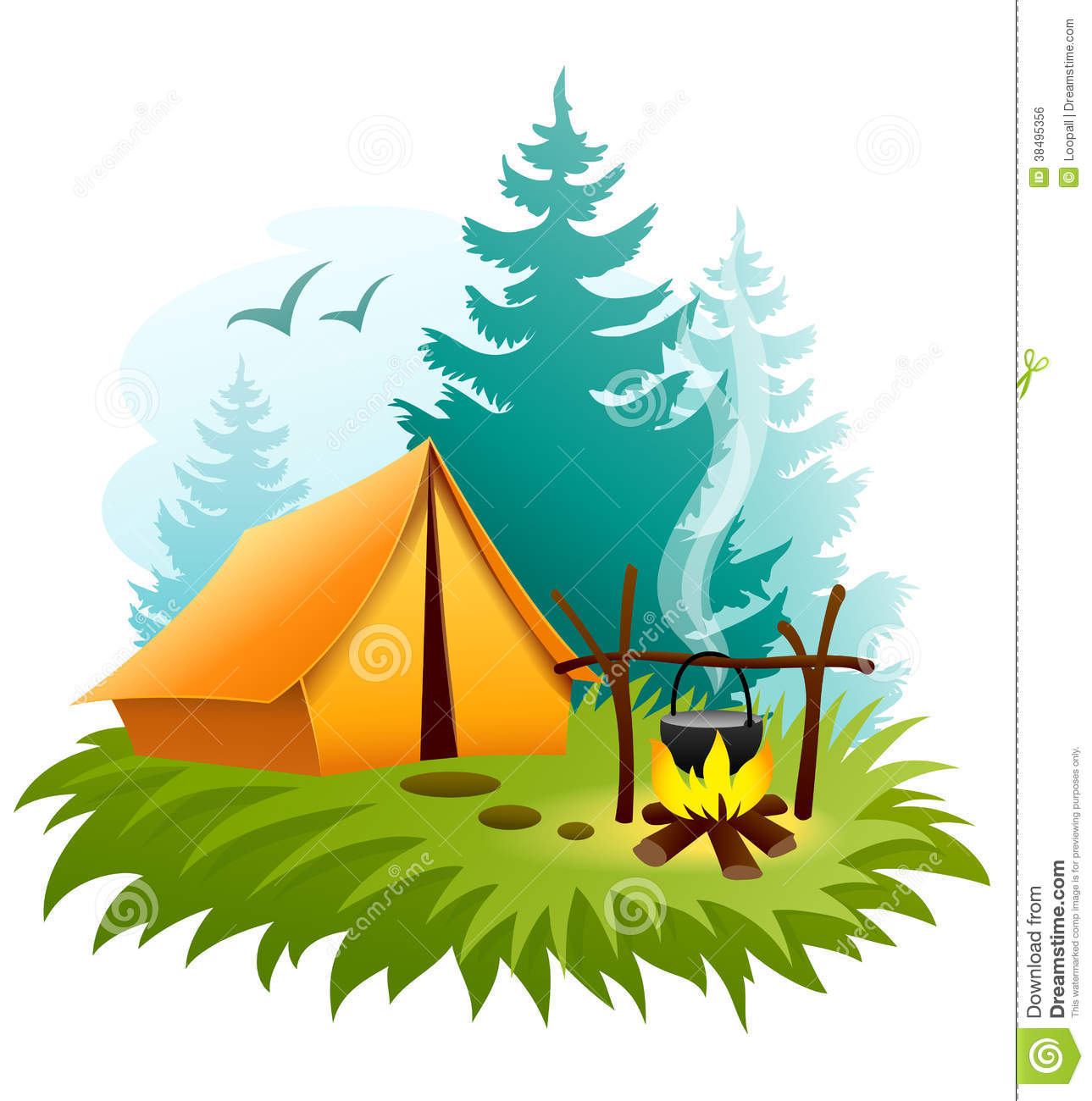 Campfire clipart family.  collection of tent