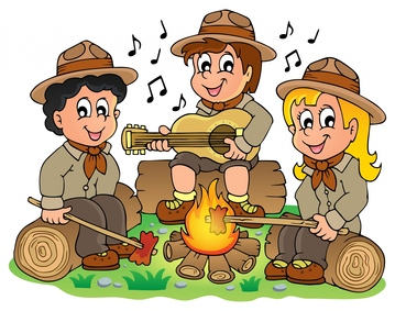 Scouting activities girl scout. Campfire clipart family