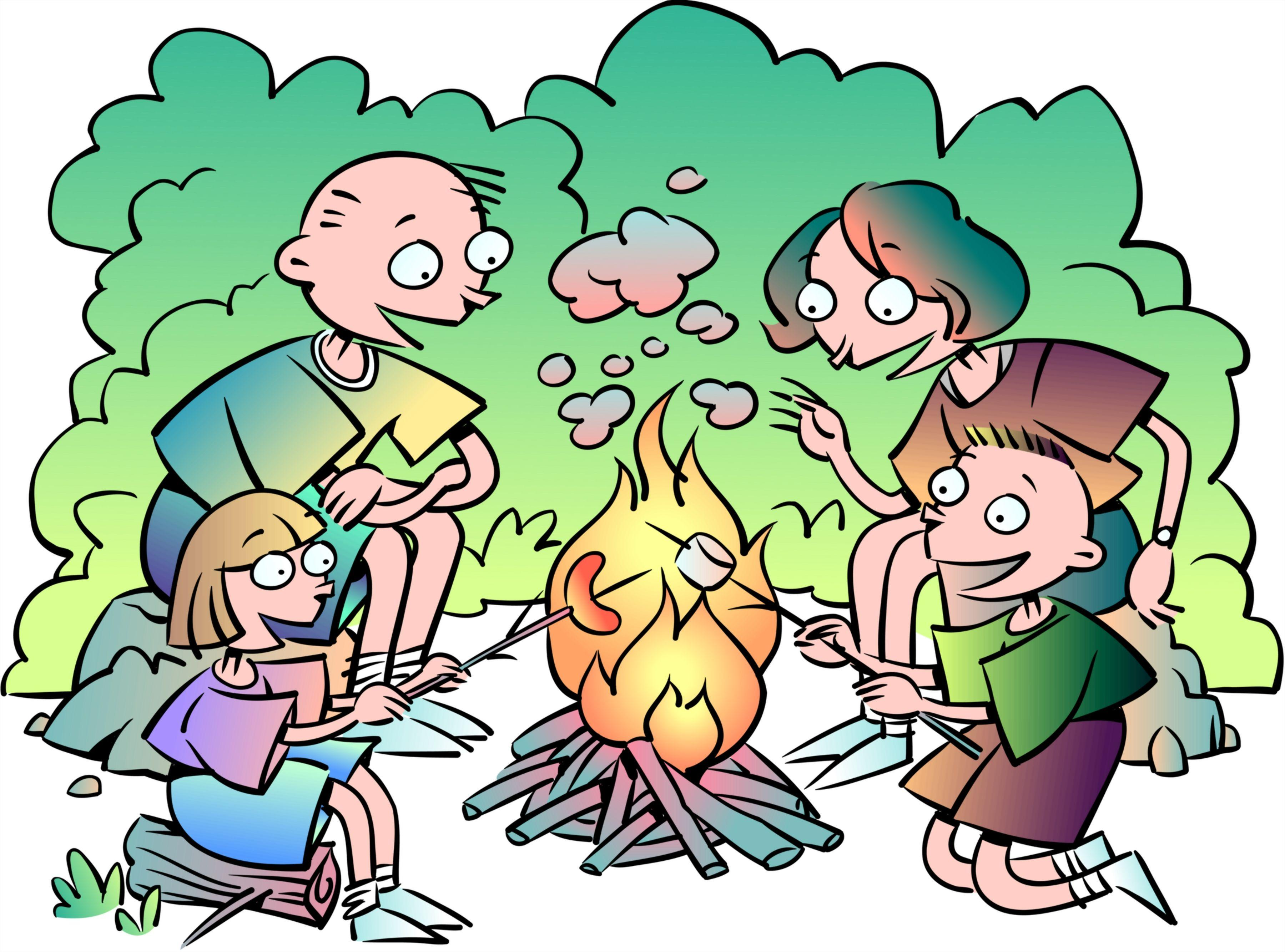 cooking clip art. Campfire clipart family