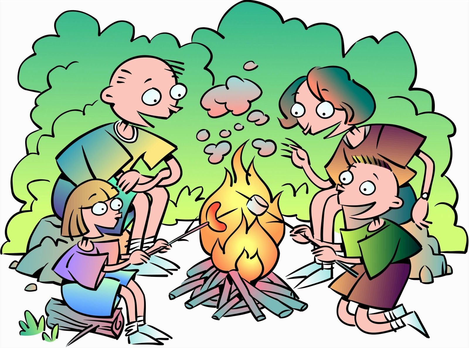 Campfire clipart family. Captivating camping styles sitting