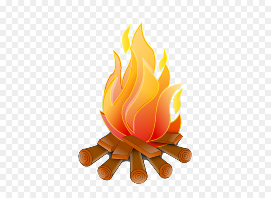 Campfire firelog combustion clip. Bonfire clipart fire log