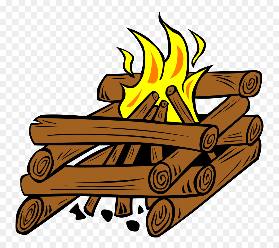 Cartoon png download free. Log clipart campfire