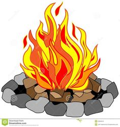 Clip art no shadow. Campfire clipart flame