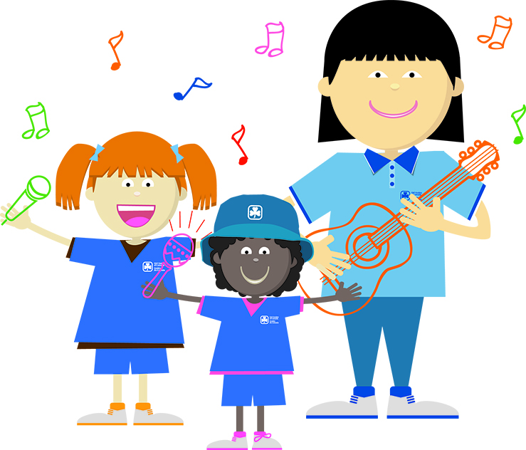 Sing it loud a. Campfire clipart girl guide