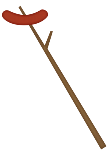 Campfire clipart hotdog. Hot dog on stick