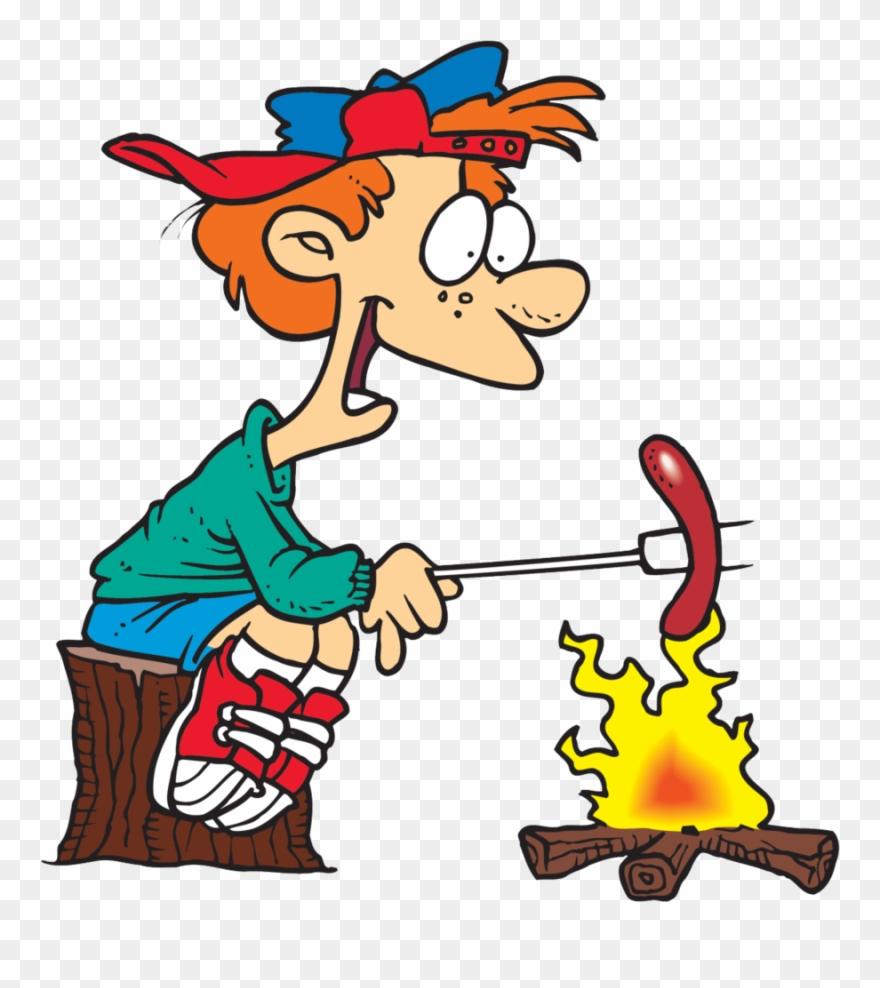 Cooking s more barbecue. Campfire clipart hotdog