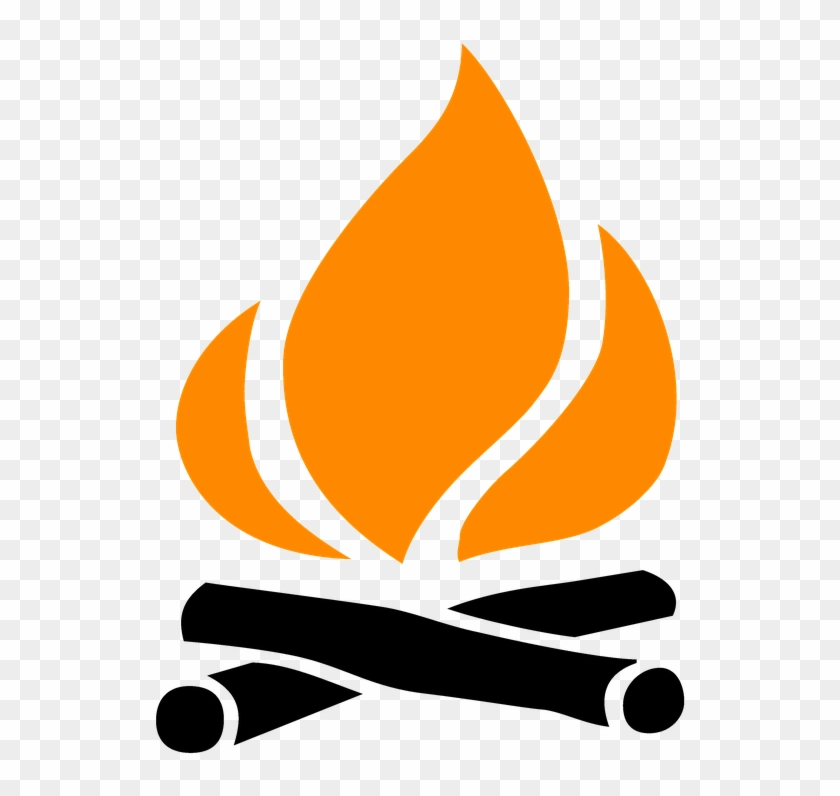 Fire make wilderness outdoor. Campfire clipart icon