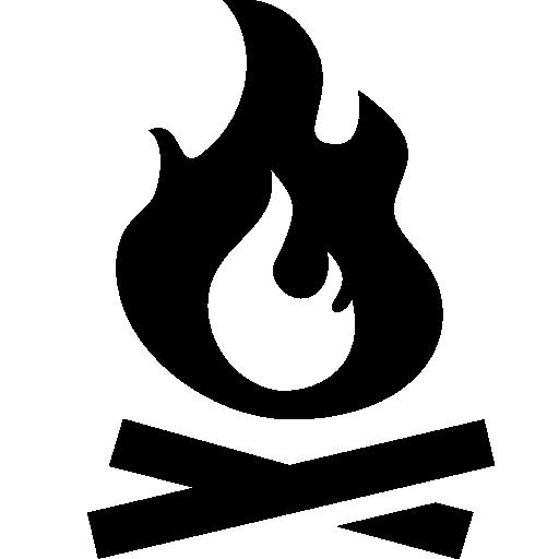 Campfire clipart icon. Free download clip art
