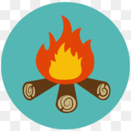 Campfire clipart icon. Free download camping outdoor