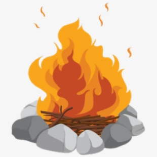 Campfire clipart large. Free cliparts silhouettes cartoons