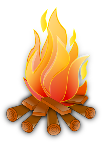 Clip art at clker. Campfire clipart large