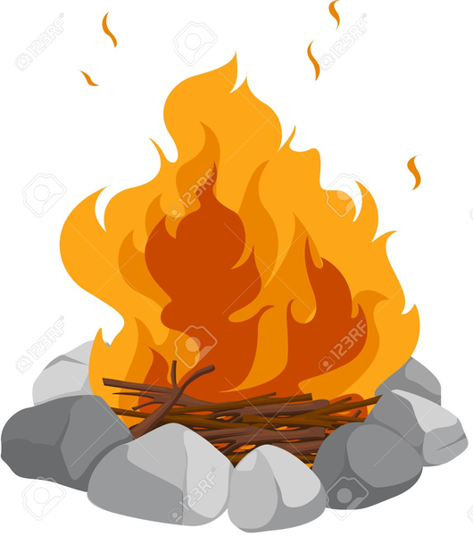 Campfire clipart large. Singing around the free