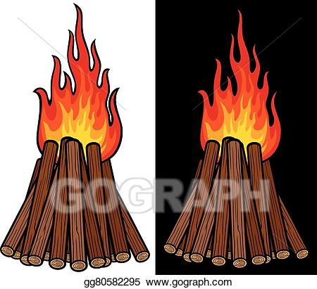 Eps vector big stock. Bonfire clipart