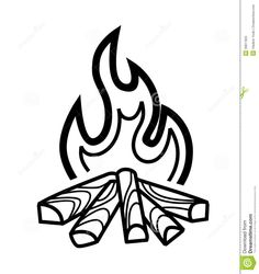 Campfire clipart line art. Clip outline ahg craft